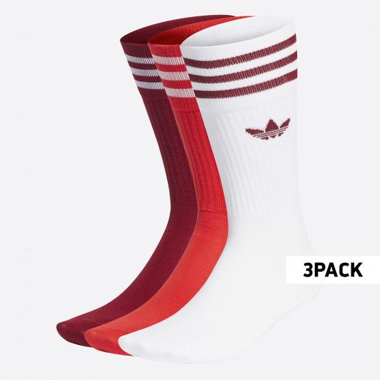 adidas Originals Solid Crew Unisex Κάλτσες 3Pack