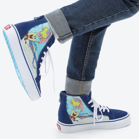 Vans x Spongebob SK8-HI Zip Παιδικά Παπούτσια