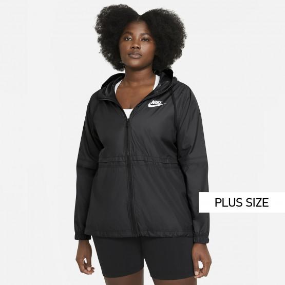Nike Sportswear Γυναικείο Plus Size Αντιανεμικό Μπουφάν