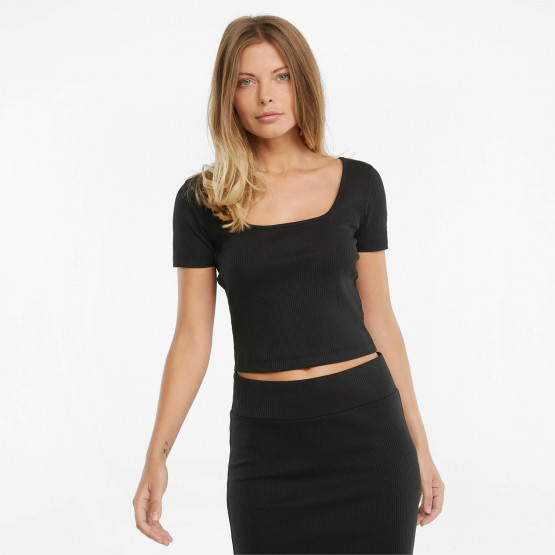 Puma Classics Ribbed Fitted Women's Crop Top