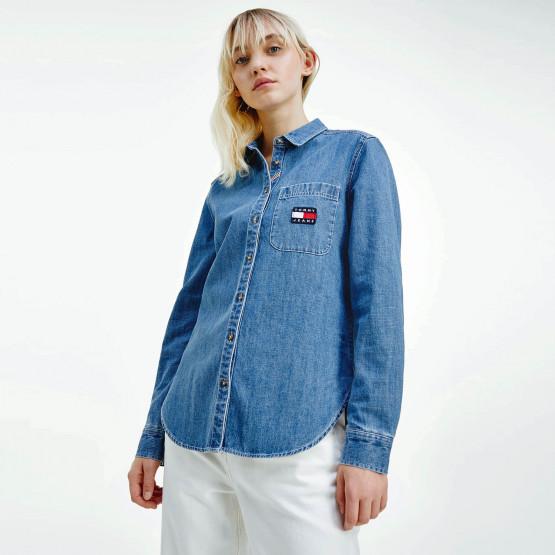 Tommy Jeans Regular Chambray Badge Γυναικείο Πουκάμισο