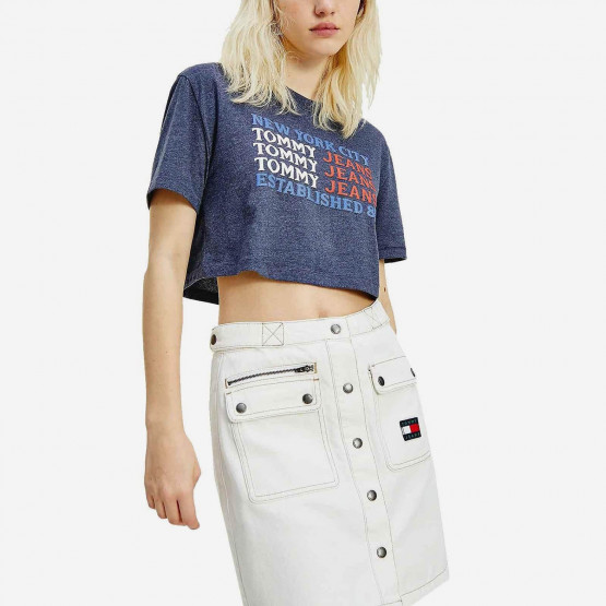 Tommy Jeans Tjw Super Crop Flag Repeat Tee