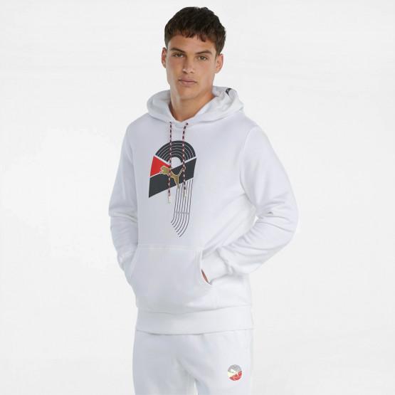 Puma AS Graphic Ανδρική Μπλούζα με Κουκούλα