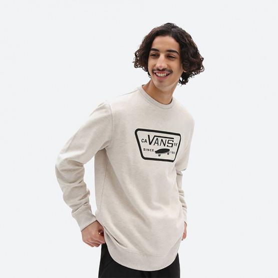 Vans Mn Full Patch Crew I Oatmeal Heat Men's Long Sleeve T-shirt