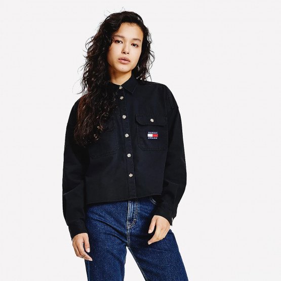 Tommy Jeans  Badge Cropped Utility Women's Shirt