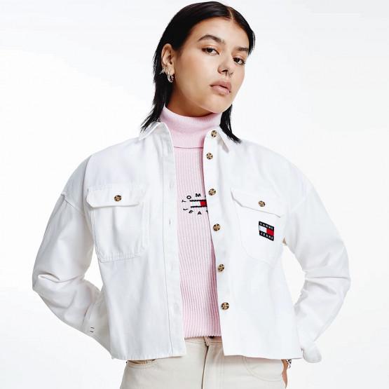 Tommy Jeans  Badge Cropped Utility Γυναικείο Πουκάμισο