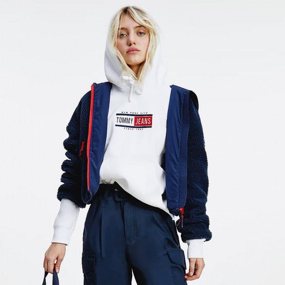 Tommy Jeans Badge Sherpa Hooded Women's Jacket