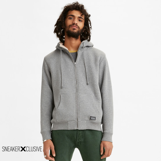 Levis Sherpa Lined Zip Up Ανδρική Ζακέτα Με Κουκούλα