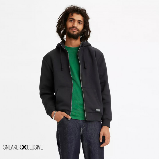 Levis Sherpa Lined Zip Up Men's Hooded Cardigan