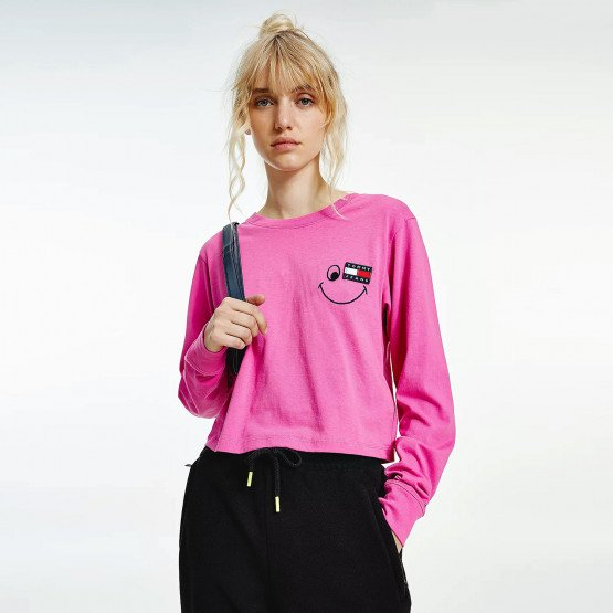 Tommy Jeans Smiley Badge Women's Long Sleeve T-shirt