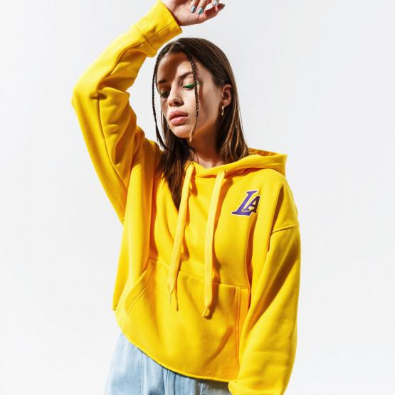 Nike NBA Lakers Γυναικεία Μπλούζα με Κουκούλα