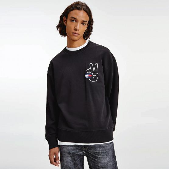 Tommy Jeans Badge Peace Men's Sweatshirt