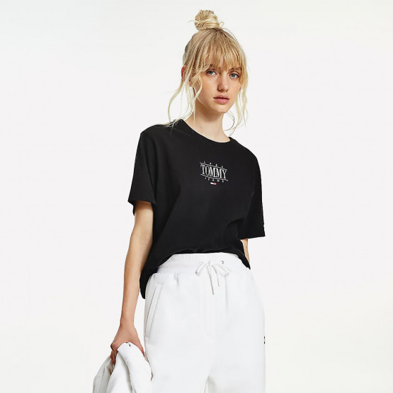 Tommy Jeans Essential Logo Cropped Γυναικείο T-Shirt