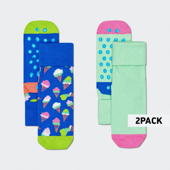 Happy Socks Ice Cream Anti-Slip 2Pack Παιδικές Κάλτσες