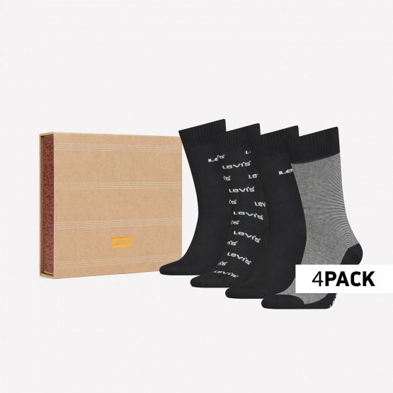 Levis Giftbox Regular Cut Logo Banner Unisex Socks - 4Pack