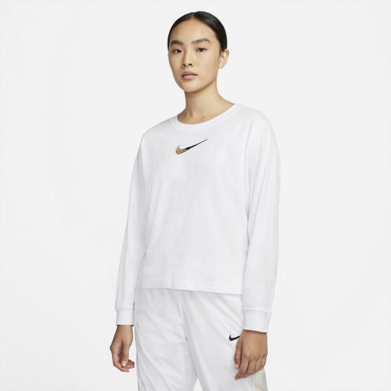 Nike Sportswear Boxy Patch Γυναικεία Μπλούζα με Μακρύ Μανίκι