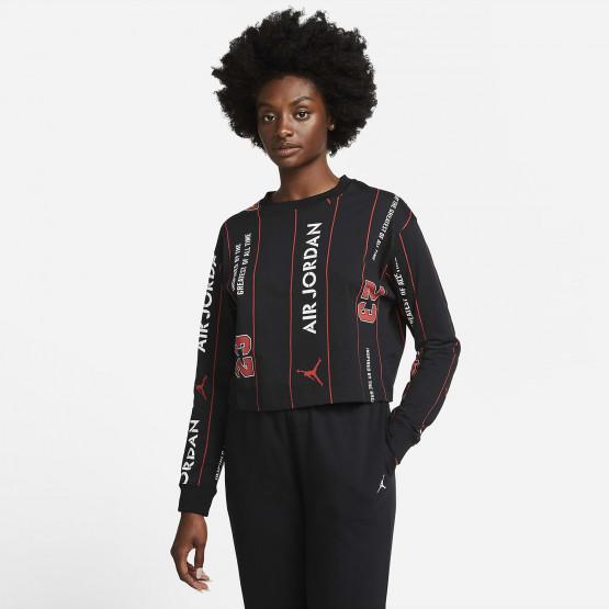 Jordan Γυναικεία Μακρυμάνικη Μπλούζα