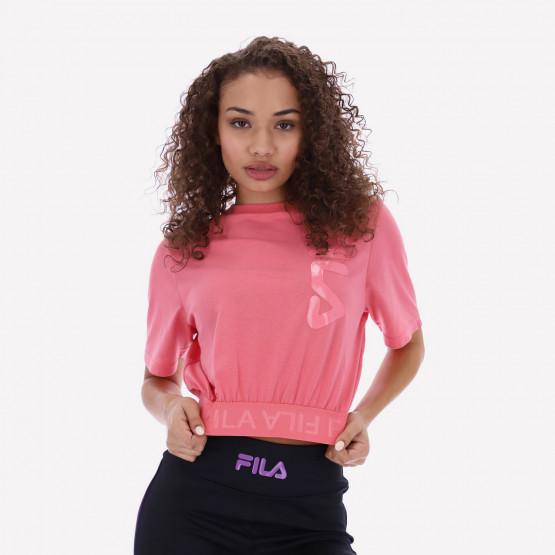 Fila Paisley Jacquard Γυναικείο Crop T-Shirt