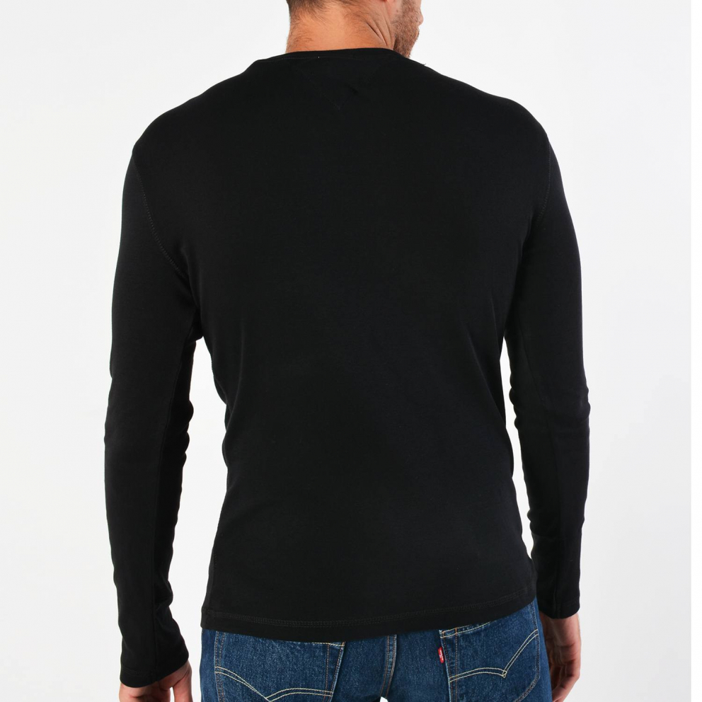 Tommy Jeans Long SLeeved Ribbed Organic Cotton T-Shirt