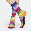 Happy Socks Athletic Multi Stripe Unisex Socks - Unisex Κάλτσες