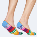 Happy Socks Multi Stripe Liner Unisex Socks - Unisex Κάλτσες