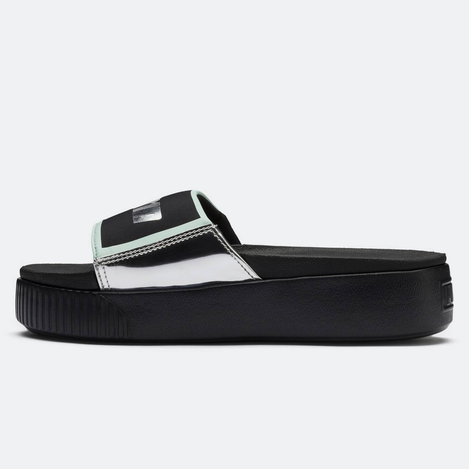 Puma Trailblazer Metallic Platform Slides - Γυναικείες Παντόφλες (9000022022_22499)