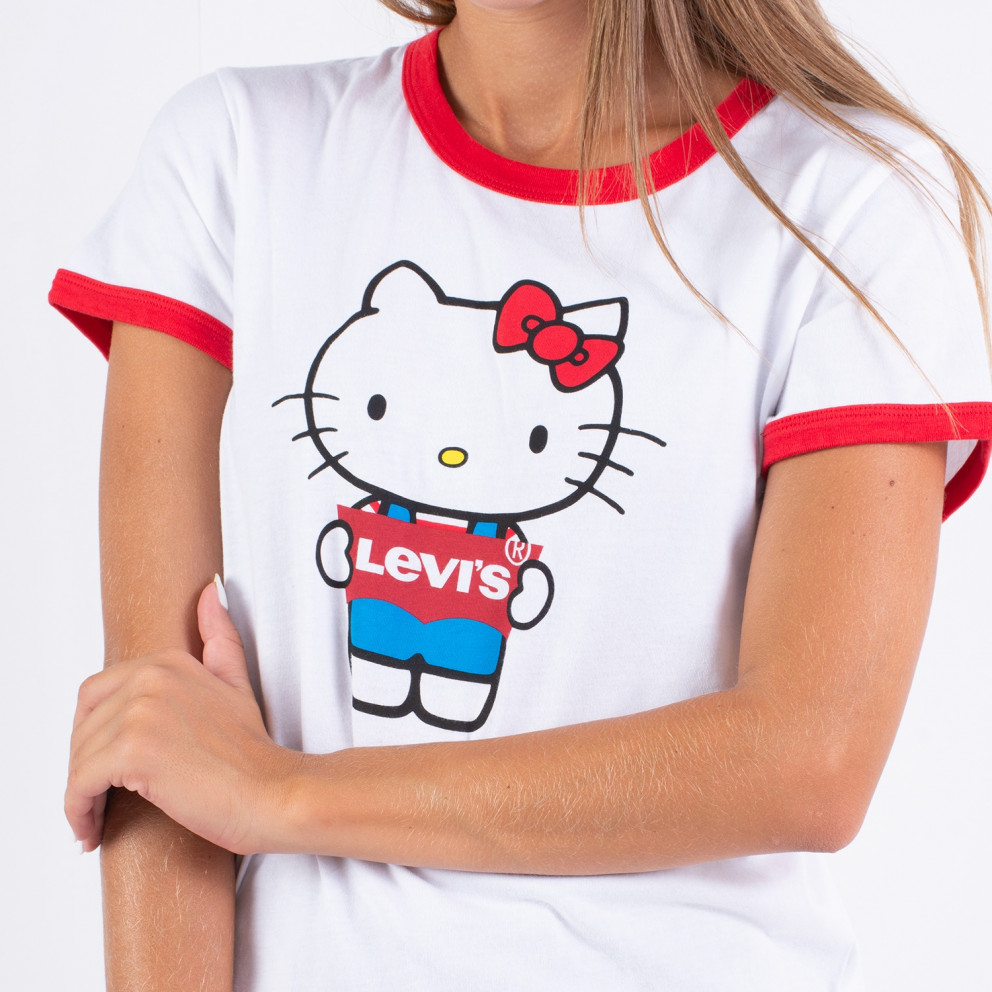 Levis Perfect Ringer Tee Hello Kitty